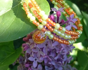 LIME and TANGERINE Cuff Bracelet gift