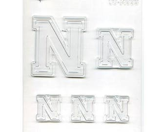 "Collegiate Letter ""N"" Chocolate Candy Mold"