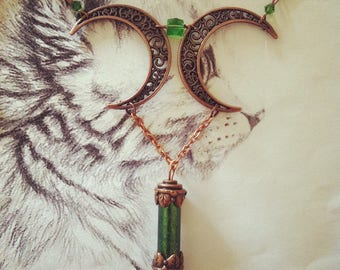 "Necklace elven Moon ""Forest Moon"""