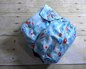 Winter Mittens OS Ai2 w/ Bamboo Insert Cloth Diaper All in Two {Version 2.0}