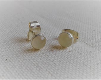 Earrings white Moonstone