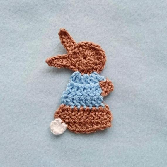 CROCHET PATTERN for the Pixie Rabbit Applique crochet