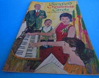 Vintage Richfield Christmas Carols Christmas in the Early West Richfield Dealer Gift Booklet Christmas Music Vintage Christmas Ephemera