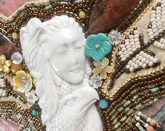 Spirit lady/Eagle Totem Necklace