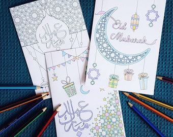Colour in Eid cards