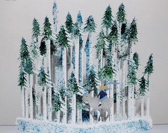 Pop up card : The Snow Queen