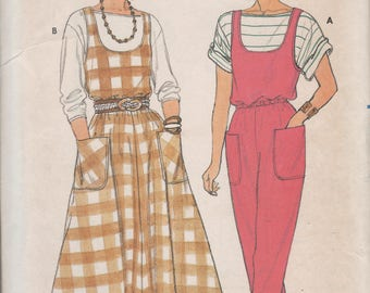 Vintage 1985 Fast & Easy Butterick Jumper, Jumpsuit and Top Size 6-10