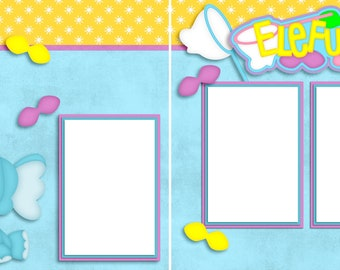 Elefun - Digital Scrapbooking Quick Pages - INSTANT DOWNLOAD
