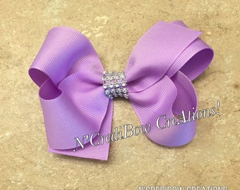 Purple boutique bow ~ big boutique hair bow ~ variety of colors ~ lavender hair bow ~ ncredibow creations