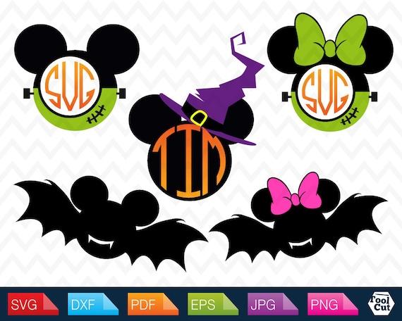 Mickey Mouse Halloween Monogram Svg Disney Initial Frames Svg