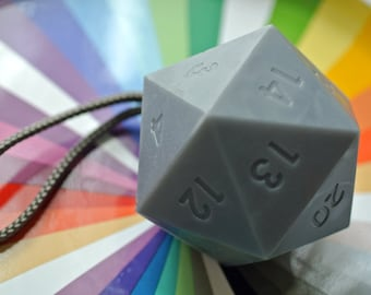 Large Dice Soap / D20 Soap / Icosahedron Soap / Soap on a Rope