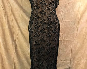 Vintage Black and Pink Lace Gown