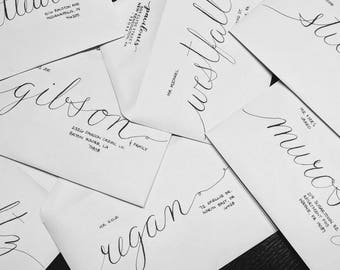 Custom Calligraphy - Wedding Invitation Envelopes