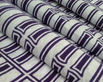 Purple indigo Bamboo yukata cotton - by the yard