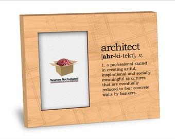 Graduation Picture Frame -Architect Definition Picture Frame - Personalization Available - 8x10 Frame - 4x6 Picture