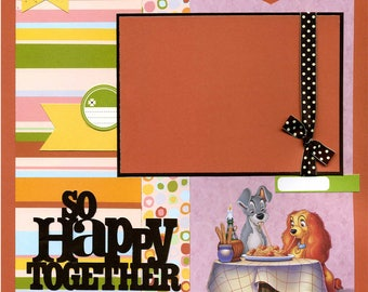So Happy Together - Premade Scrapbook Page