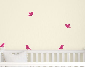 ON SALE Little Birds Wall Decals   Set Of 8   Nursery Wall Decal   Children