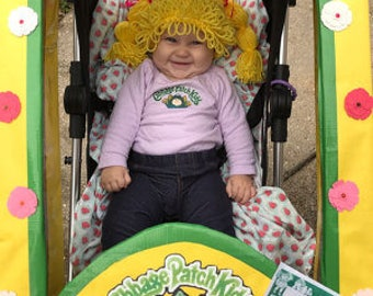 Cabbage Patch kid Hat, cabbage patch Baby 1pc costume, cabbage patch wig, infant girl halloween costume,toddler costume,kid wig, wig hat