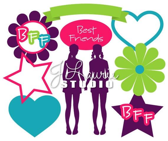 digital clipart elements bff best friend clipart best friend rh etsystudio com bff images clipart bff clipart free