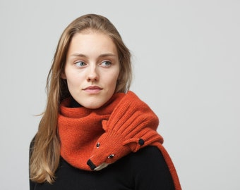Red Fox Stole from washed Lambswool