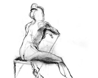 Archival Prints of Figure Drawings