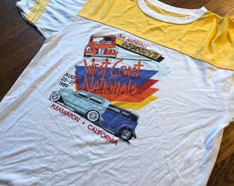 1989 Vintage West Coast Nationals Pleasanton California T-Shirt