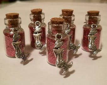 Mermaid Kisses: Pink Glitter Bottles