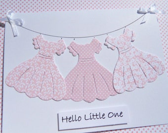 Welcome Baby Girl Cards - Baby Girl Shower Cards - Birthday Card for Girls - Cards for Daughters - Mommy To Be Cards -  dcc1