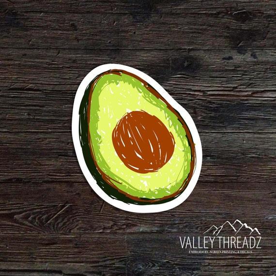 Avocado Decal Avocado Vinyl Decal Avocado Sticker Car