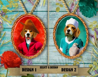 Beagle  Jewelry. Beagle  Pendant or Brooch. Beagle  Necklace. Beagle Portrait. Custom Dog Jewelry by Nobility Dogs. Dog Handmade Jewelry