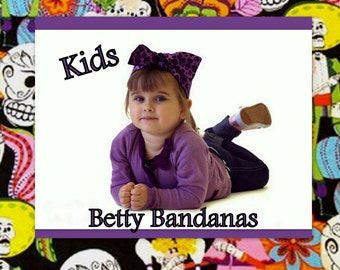 KIDS...Betty Bandana in Day of the Dead Print