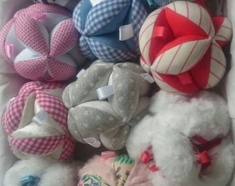 Ball of gripping Montessori textures for baby different models available