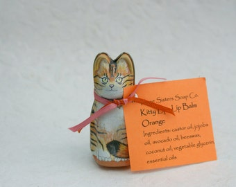 Orange Kitty Lips Lip Balm