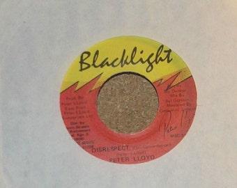 Peter Lloyd Fragga Ranks Disrespect Vinyl Reggae 45 rpm Record
