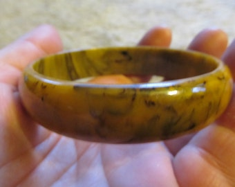 Sale! 1950s Mississippi Mud BAKELITE Bangle Bracelet TESTED