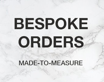 Bespoke orders available in a full range of leather and suede. Prices will vary for each item