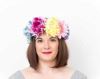 Festival; Flower Crown, Floral Crown, Festival Headpiece, Boho Wedding, Wedding Flower Crown