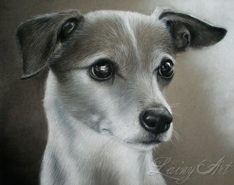 CUSTOM Drawing From your photo - 8x10 - Realistic Hand drawn fine art - Charcoal portrait - Canine, Puppy, pet portrait