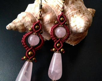 Rose Quartz Teardrops