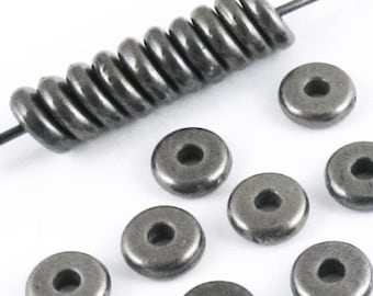 TierraCast Beads-Black Finish DISK SPACER 5mm (25)