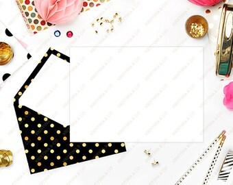 Styled Stock Photography \ Digital image \ Office desktop \ Invitation mockup