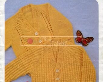 Baby Toddler Cardigans DK 18-24in. Hayfield 1093 Vintage Knitting Pattern PDF instant download