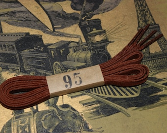 Vintage boots laces brown original old stock 1930 / 1 pair / 95cm