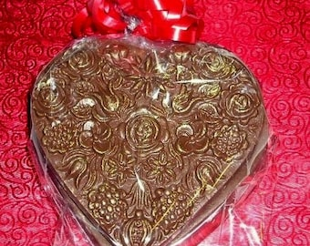 Hearts and Flowers Edible Chocolate Box