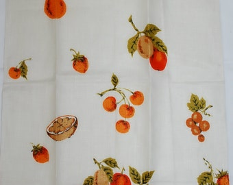 Vintage Kitchen Towel Fruits in Fall Colors-MWT