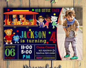 Daniel Tiger Birthday Party Invitation with Photo|Daniel Tiger Birthday Party Invitation|Daniel Tiger Birthday Party|Daniel Tiger Birthday