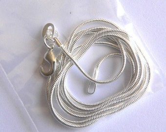 18 inch  Silver 2 mm snake chain necklace