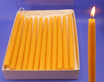 "Bees Wax Candles, 50 Pair of 5/8"" x 10"" Bees Wax Tapers, 100 Beeswax Candles, Bulk Beeswax Candles, Bulk Taper Candles, Home Decor Lighting"