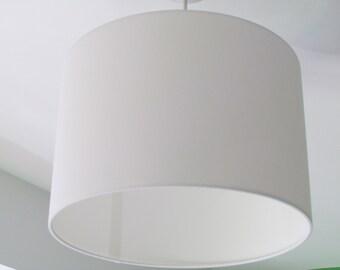 NEW Handmade Pure White Cotton Fabric Drum Lampshade Lightshade