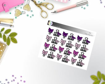 basics - bow paperclips (EC, Happy Planner Stickers)